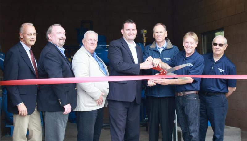 SEH pump station ribbon cutting